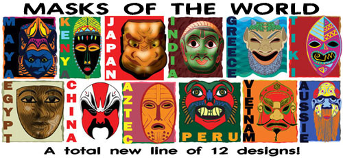 Examples of masks from different Cultures from around the world